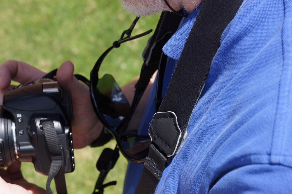 martin showing how to use one of the student's cameras yesterday in our SLV summer camp photography class