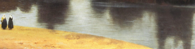 detail of  vermeer's   view of delft