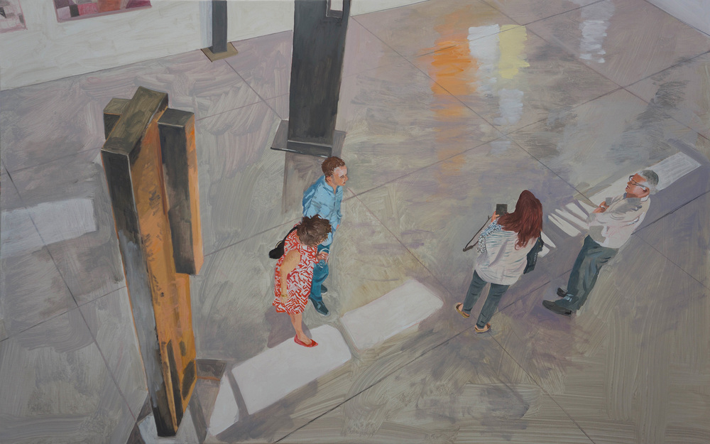 "parade 51   35x56""  oil on portrait linen"