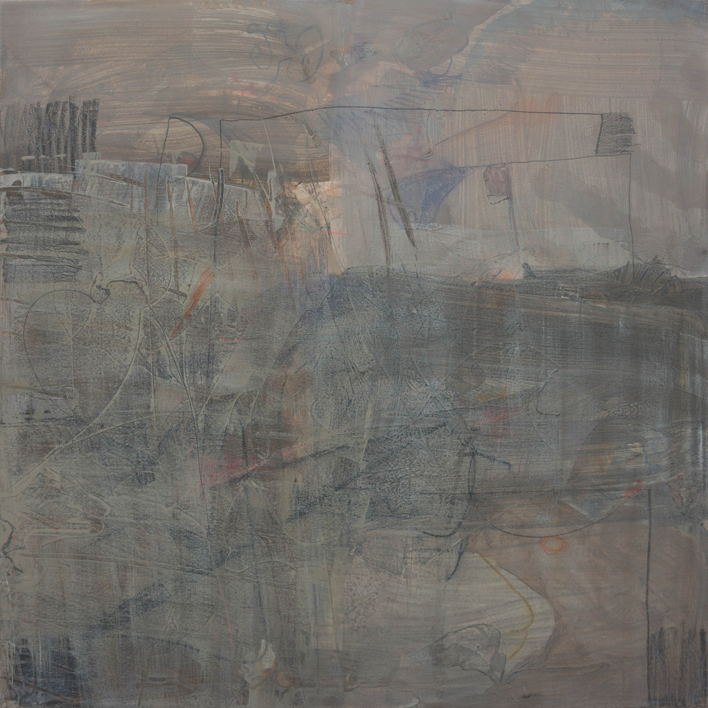 "grey 1  38x38"" mixed media on canvas"