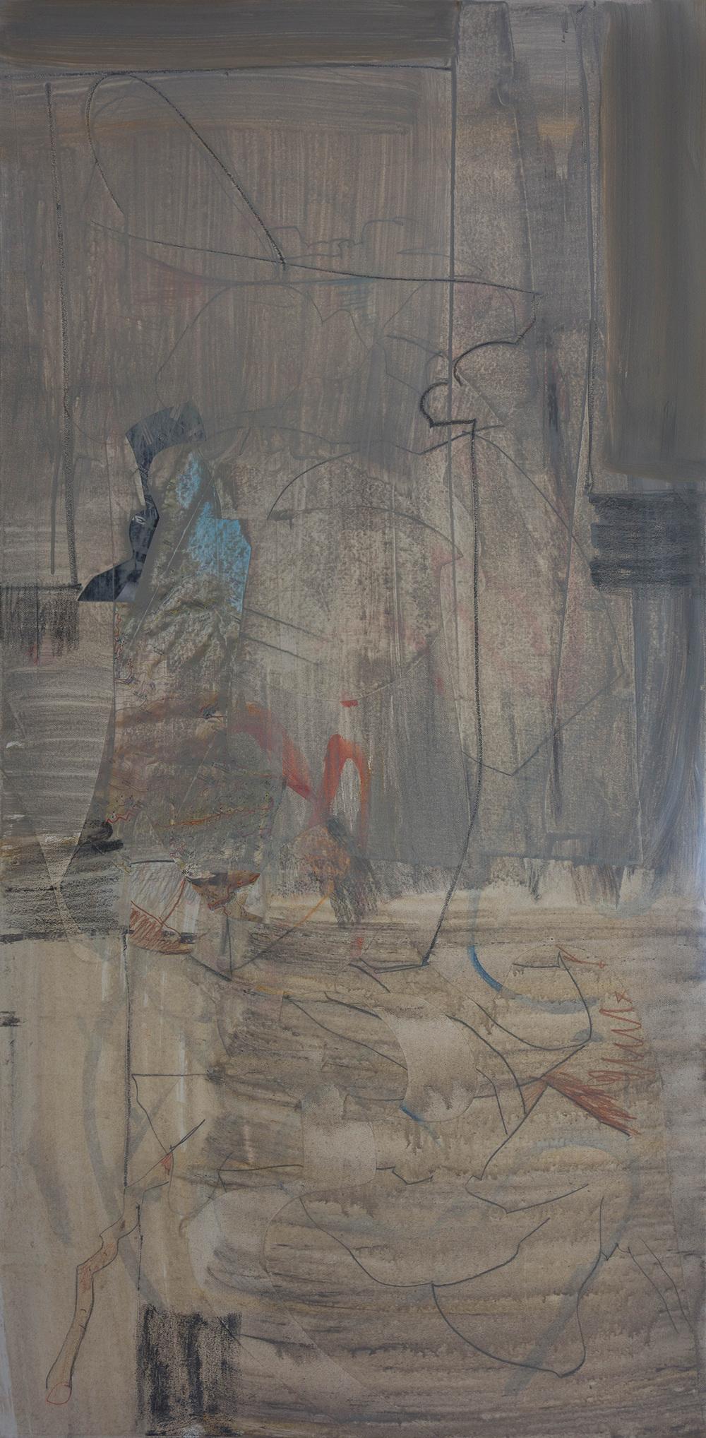 "grey 2  48x24"" mixed media on canvas"