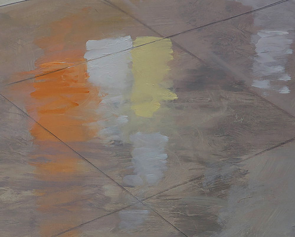 "DETAIL:  space gallery  35x56"" oil on portrait linen"