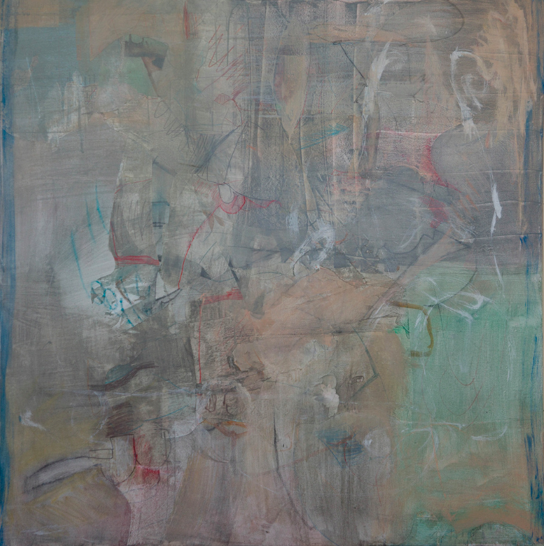 "grey 4 2015 48x48"" mixed media on canvas"