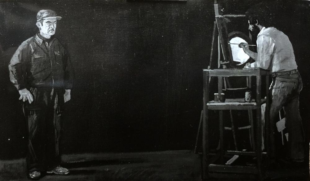 philip paints niko  oil on linen, ca. 1976