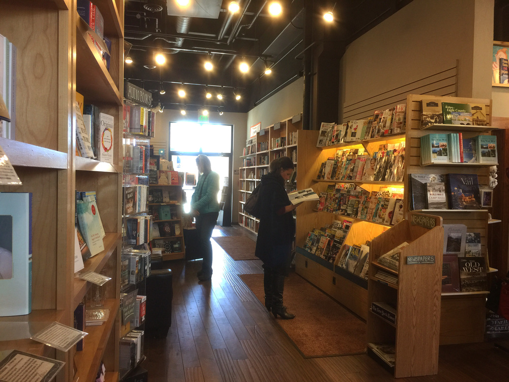 after school, a hot chocolate at the  bookworm bookstore  in edwards