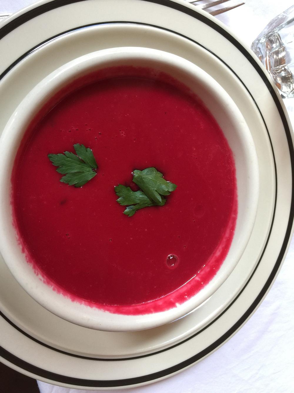 a  superb  beet soup
