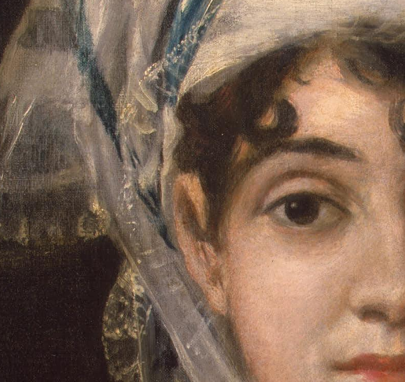 detail of a  goya  portrait that interests me right now