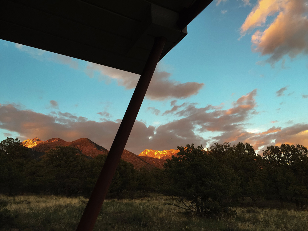 the eastern sky and the fourteeners from our front door, 8:15pm