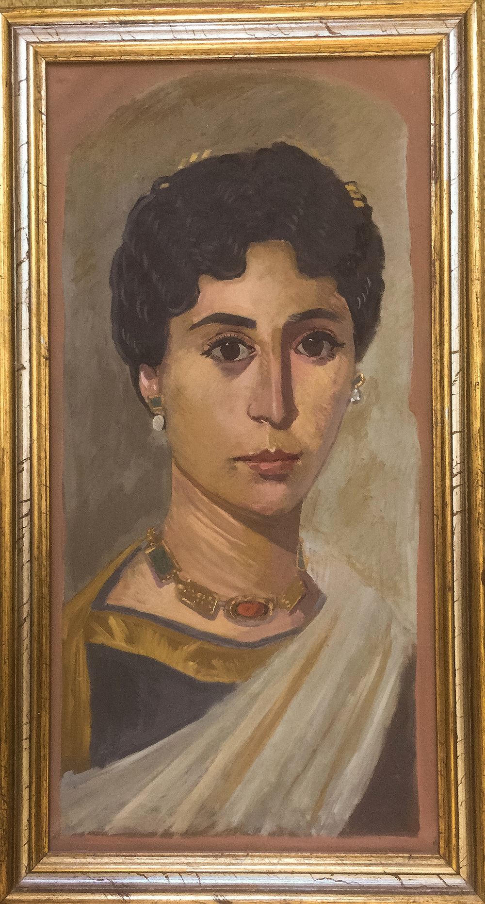 fayum portrait study i painted at the british museum in 1972, oil on wood panel.