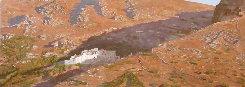 Panachrandos Monastery, Andros oil on linen, 2010