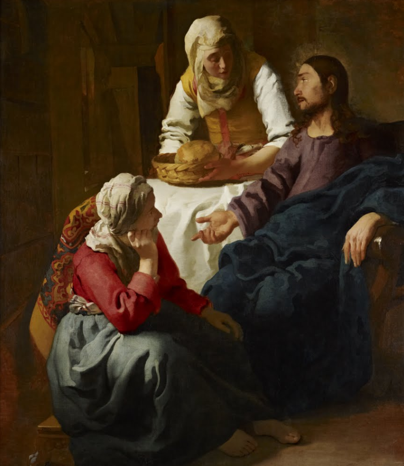 vermeer:  christ in the house of mary & martha , 1654