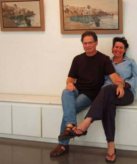 mikela and i in 2006 at my show at skoufa gallery in athens