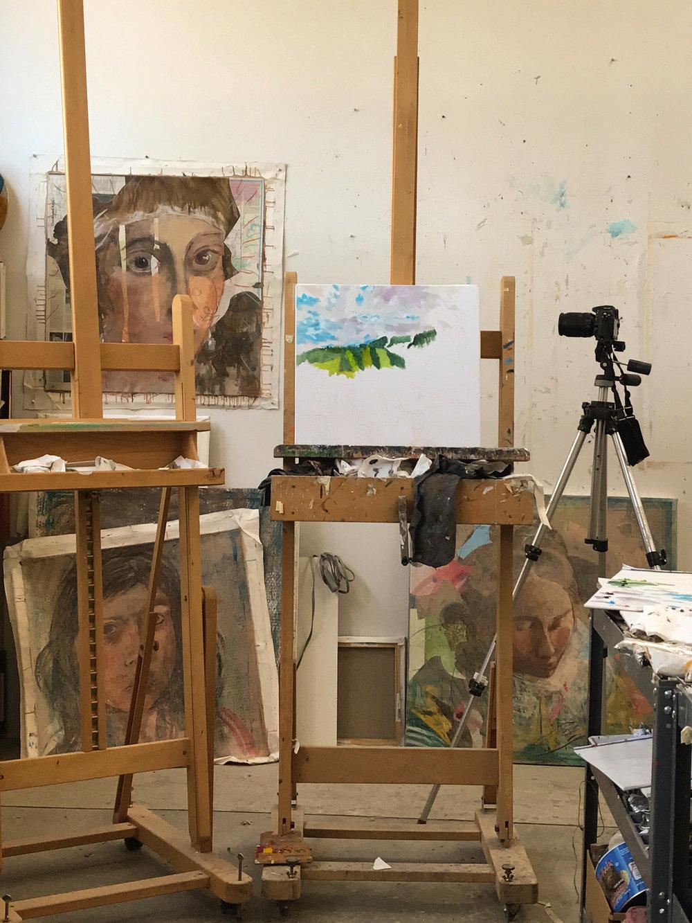 """aspen art fair , 20x18"""" on the easel"""