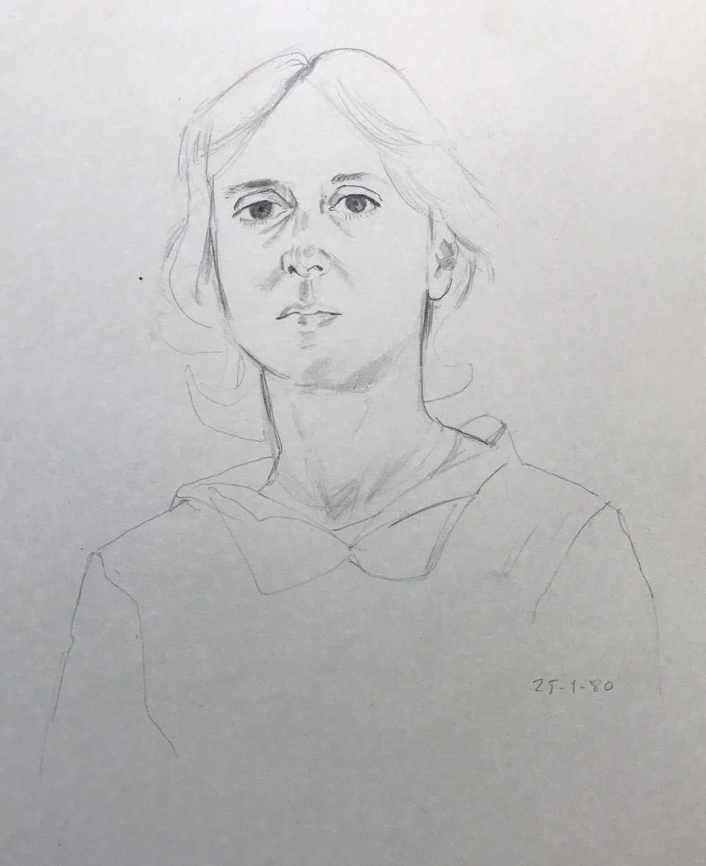 Drawing Today For New Oil Interior 22x22 Works From 1980 Found Eyebrow Of Chrissi S
