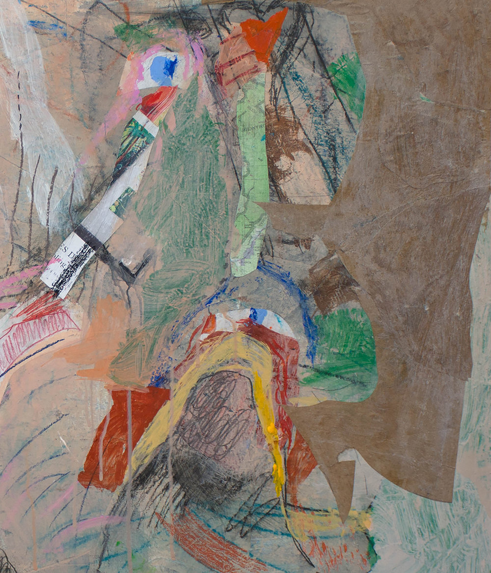 DETAIL of the upper right portion of the painting