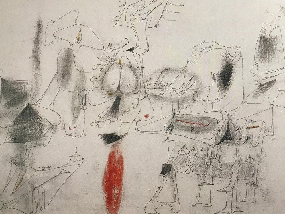 archile gorky drawing, ca.1940