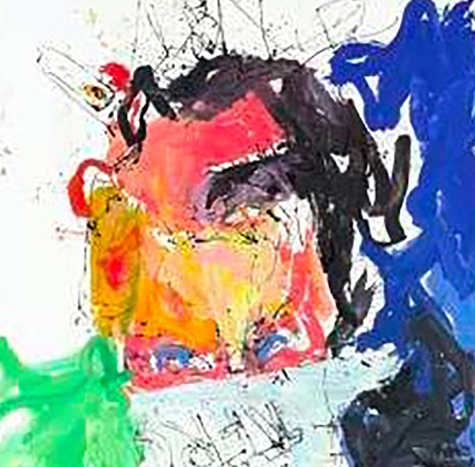 baselitz: detail of a painting