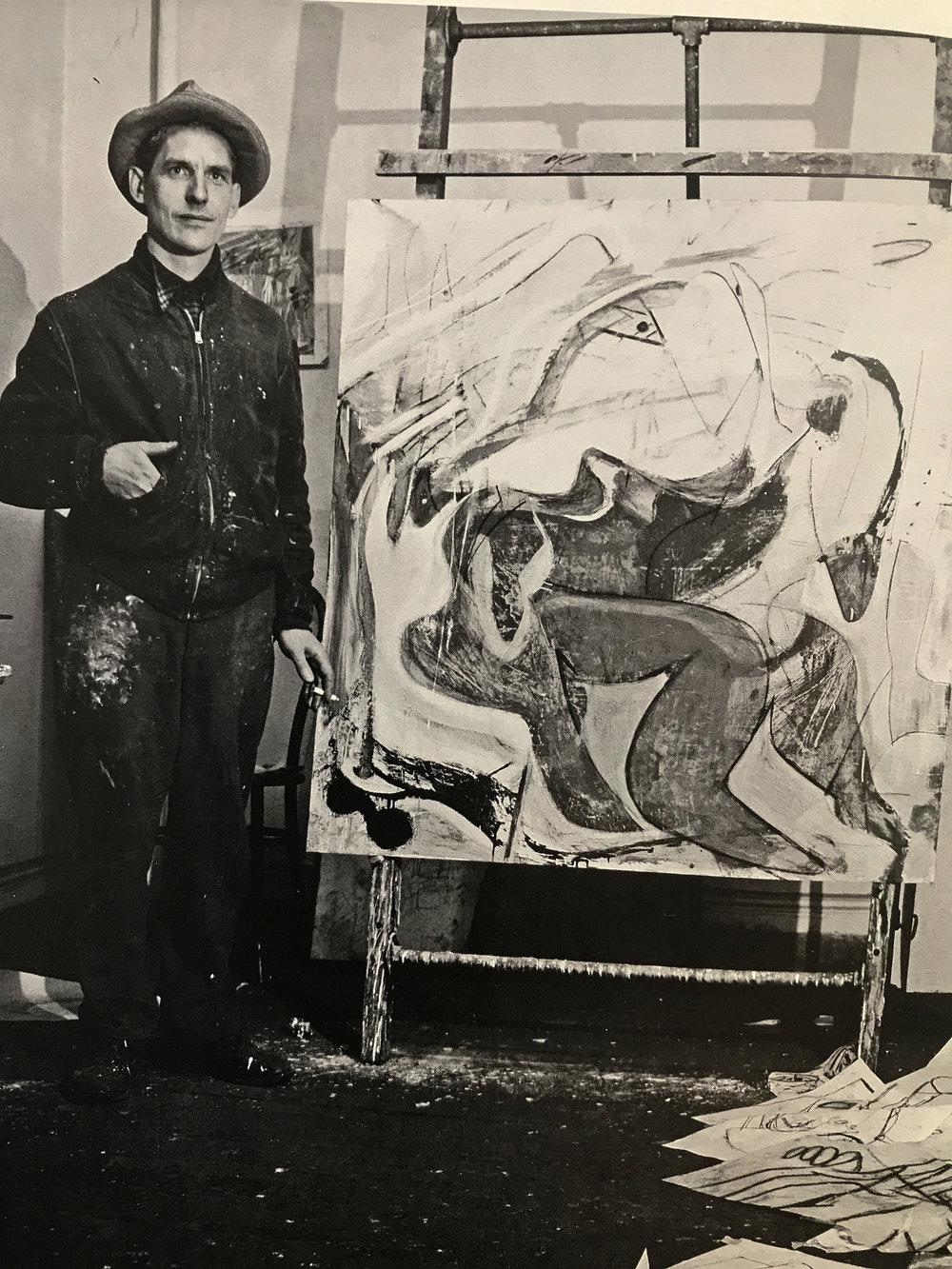 deKooning in the 4th ave.. studio, november, 1946