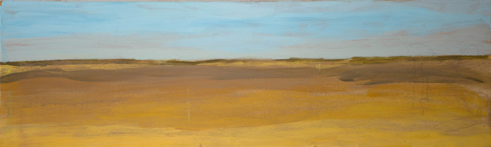 k's landscape , stage 1, acrylic on canvas