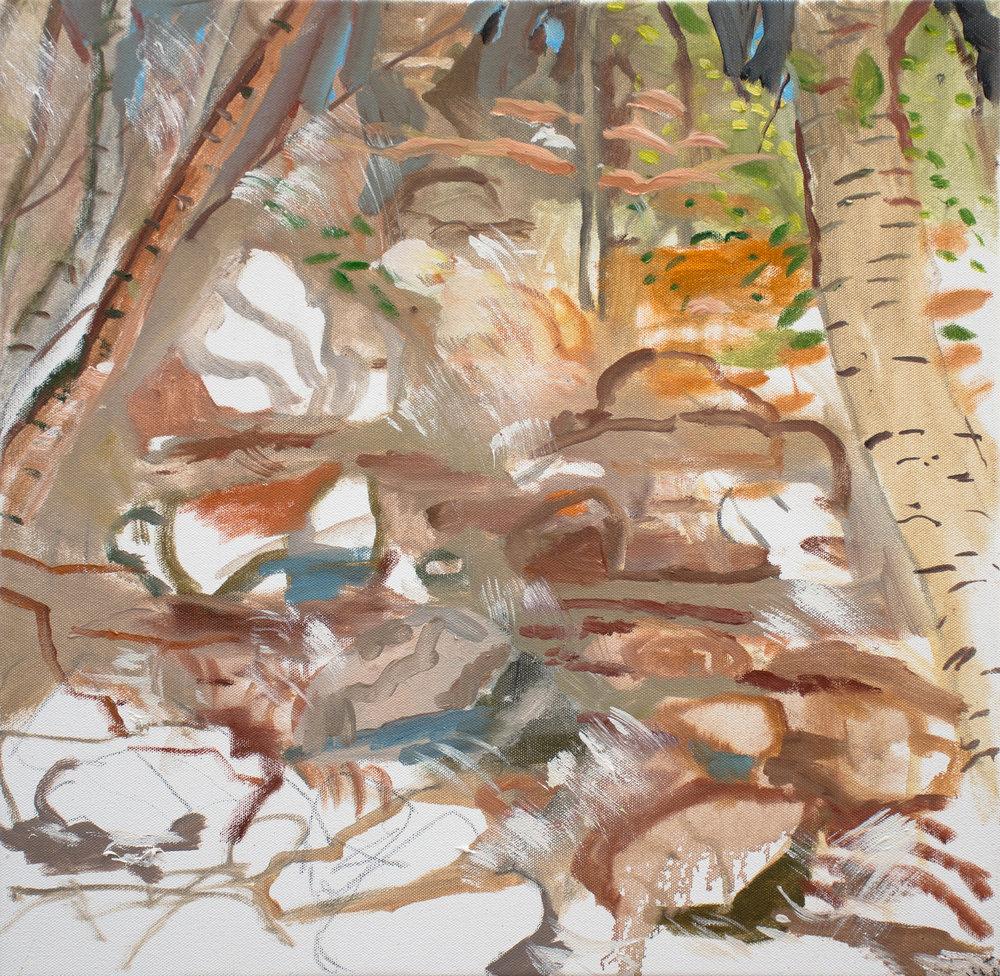 """5/27/18 plein air oil  20x20"""" oil on canvas"""