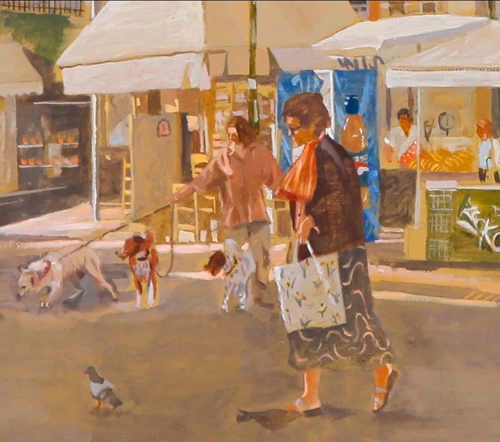 DETAIL:  monastiraki , 2010 oil on canvas