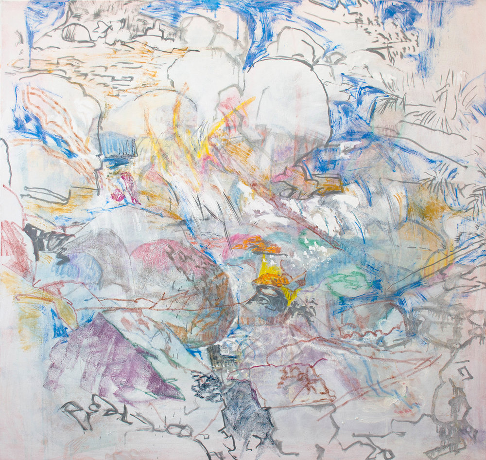 """katarachtes,  50x48"""" as it looked at 11am"""