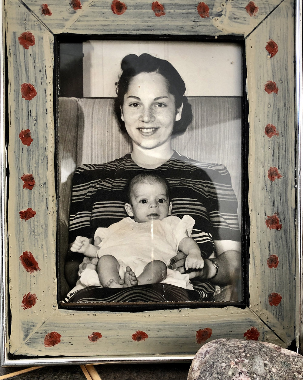 with my mom,  liz , at 7 months