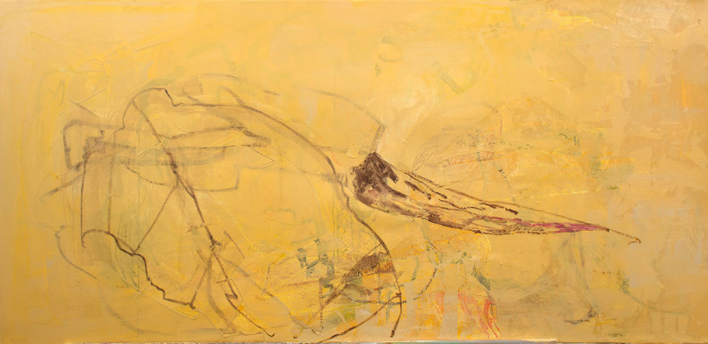"""singing creek  38x78"""", as it looked a few moments ago"""