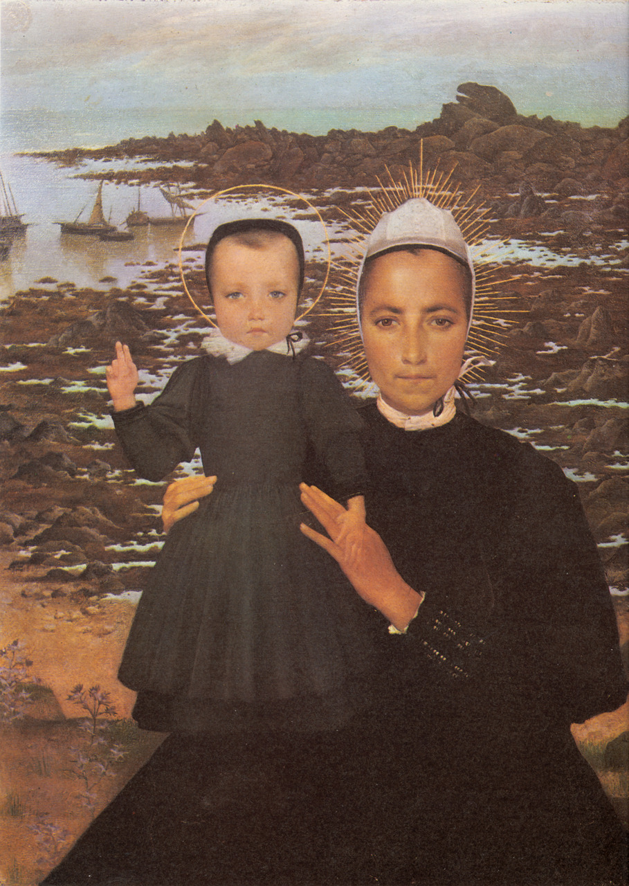 """Lucien Lévy-Dhurmer's """"Our Lady of Penmarch"""" (1896) Oil on canvas    via  www.artrenewal.org"""