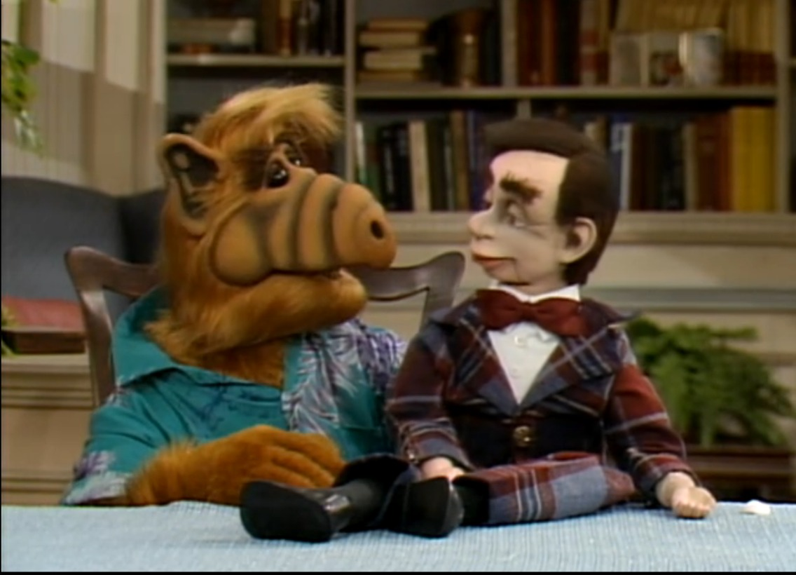 ALF gets all  meta  sometimes . This is why I have loved him for over two decades.