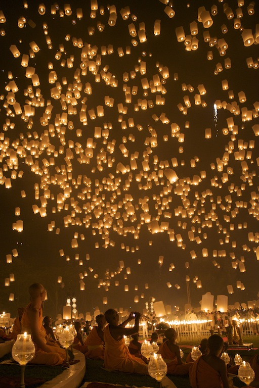 darksilenceinsuburbia :      Loy Kratong Floating Lantern in Chiang Mai – Thailand    Found on  Flickr       I HAVE to go see this! Who wants to join me?