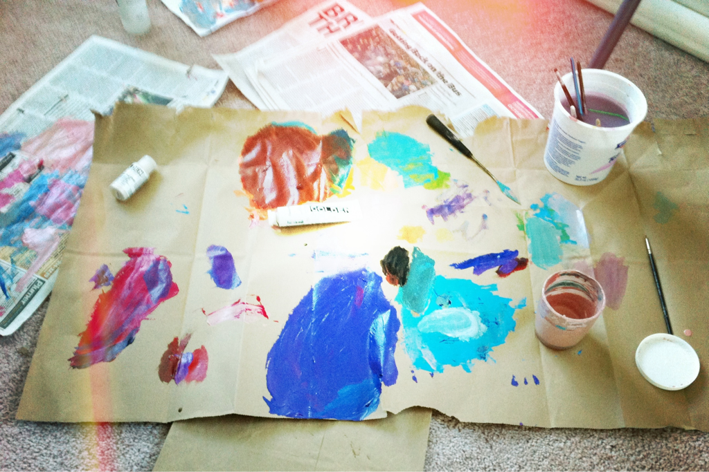 Art happens… And it can get messy!