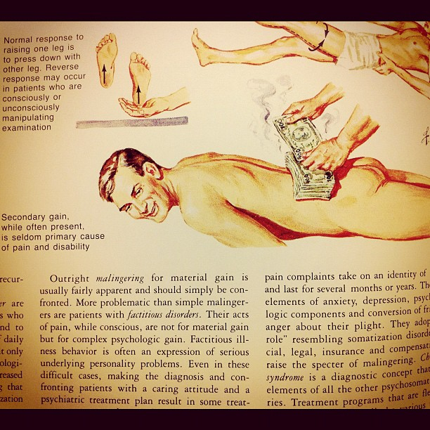 Hot Ass Money Therapy: Psychosomatic conditions article in the  Ciba Collection of medical illustration by the amazing Dr. Frank Netter (Taken with  instagram )