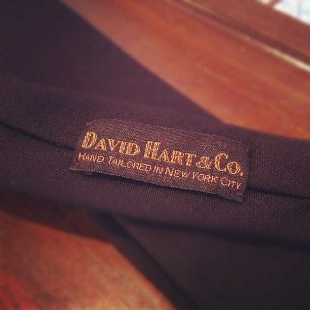 Love these custom ties for @antonioazzuolo #NYFW show by @davidhartnyc (Taken with  instagram )