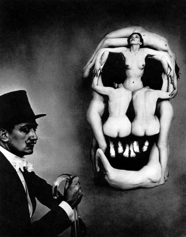 In Voluptas Mors by Philippe Halsman & Salvador Dalí (1951) via Museoleum,