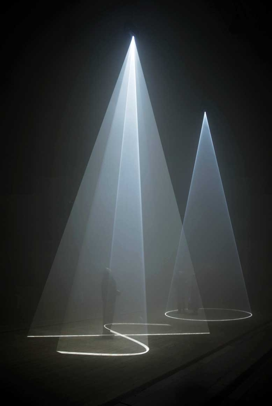 Anthony McCall ,  Between You and I  (2006) Sixteenth minute, projected light installation   (via  BOMB Magazine )