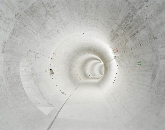 The Time Machine series by Edgar Martins (2011)    Bemposta power station: circular dam gallery