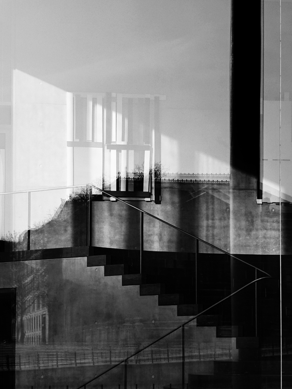stairs & refelctions // early 2014 // panasonic dmc-zs15 by  Georg Nickolaus