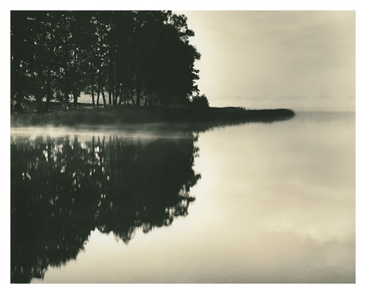 A Misty Lake, Poland, n.d., by Roman Loranc
