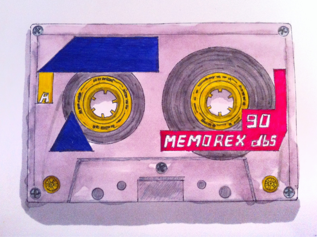 """Memorex db5 90""   Marker, pen, and India ink on paper. 4"" X 5.5"". 2012   The last package of tapes I bought looked like this. So, I had to honor it some how. This the third of my 'Obsolete Technology' series of sketches.   I made a playlist to go along with this, available on the Spotify.    Darts & Arroz    ""How Do I Know"" - Here We Go Magic   ""Heaven"" - Club 8   ""All My Hate and My Hexes Are For You"" - Crocodiles   ""Navy Light"" - Labyrinth Ear   ""Gun Shy"" - Widowspeak   ""I Never Would"" - Seapony   ""Keep Pushing On"" - John Maus   ""It's My Part"" - Jonquil   ""Days"" - The Drums   ""Capricornia"" - Allo Darlin'   ""It All Comes Back To Us"" - Blackbird Blackbird   ""S'eteint Le Soleil (Inner Worlds Remix)"" - Yelle   ""Shadow"" - Blouse   ""Bogus"" - Whirr   ""Amber"" - Electric Guest   ""I Belong In Your Arms"" - Chairlift   ""Into the Sea"" - Seapony   ""Home Is Where My Head Is"" - Whirr   ""Body Mod"" - Pictureplane   ""Camouflage"" - Small Black   ""Paws"" - Enjoyed   Have a good weekend, guys!"