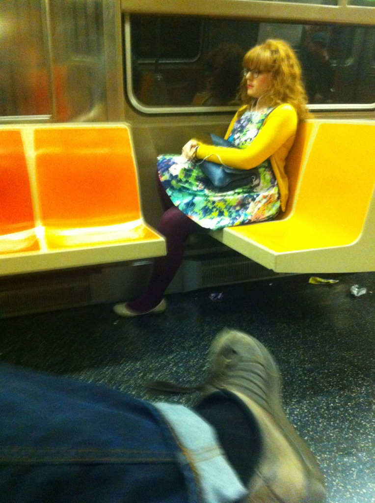This is not me…   …but she's kind of doing a good impression. Her colors are off: mostly, let's avoid dark opaque hosiery with light-colored flats, m'ladies. The yellow cardy, is also too caricaturesque. She's a little bit more UO, I'm more A.P.C. Also, I never wear my straight bangs with curly hair. It's always either all sleek, or curly; nary a schizophrenic hairdon't atop my bulbous head. But that said, hats off to you, Brooklyn girl who bears a striking resemblance to me!   You've been warned, I'm cloning myself. A bit of the integrity of the original copy is always lost in the process, but nonetheless, it's happening.  I tried to explain to you that I am not convinced I'm not a replicant, but you flippantly laughed it off.  Coming soon to an independent bookshop near you!   Photo by Jake Chandler, via Clayton Eddy, both members of  Crawl Babies :  http://crawlbabies.bandcamp.com