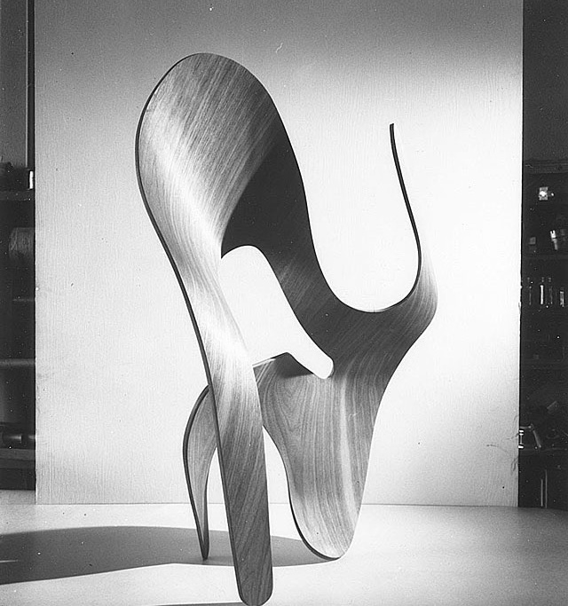 Molded-plywood sculpture  by Ray & Charles Eames (1943)