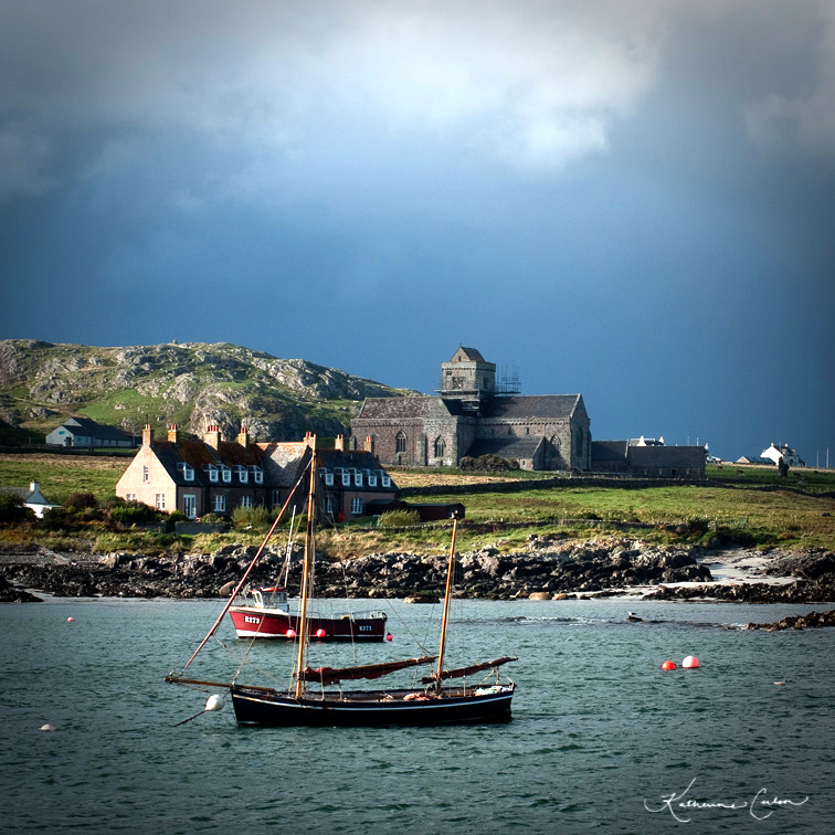 Iona From the Ferry, September 2012 Copyright Katherine L. Carlson, All Rights Reserved