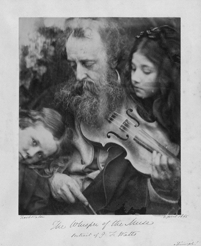 The J. Paul Getty Museum, Los Angeles. Julia Margaret Cameron,  The Whisper of the Muse: Portrait of G.F. Watts . April 1865. Albumen silver print.  26 x 24.1 cm. Used with permission.