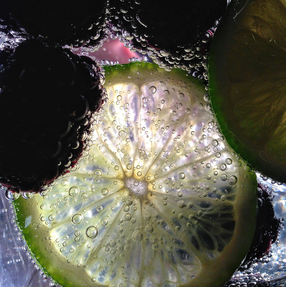 Blackberry Lime Seltzer