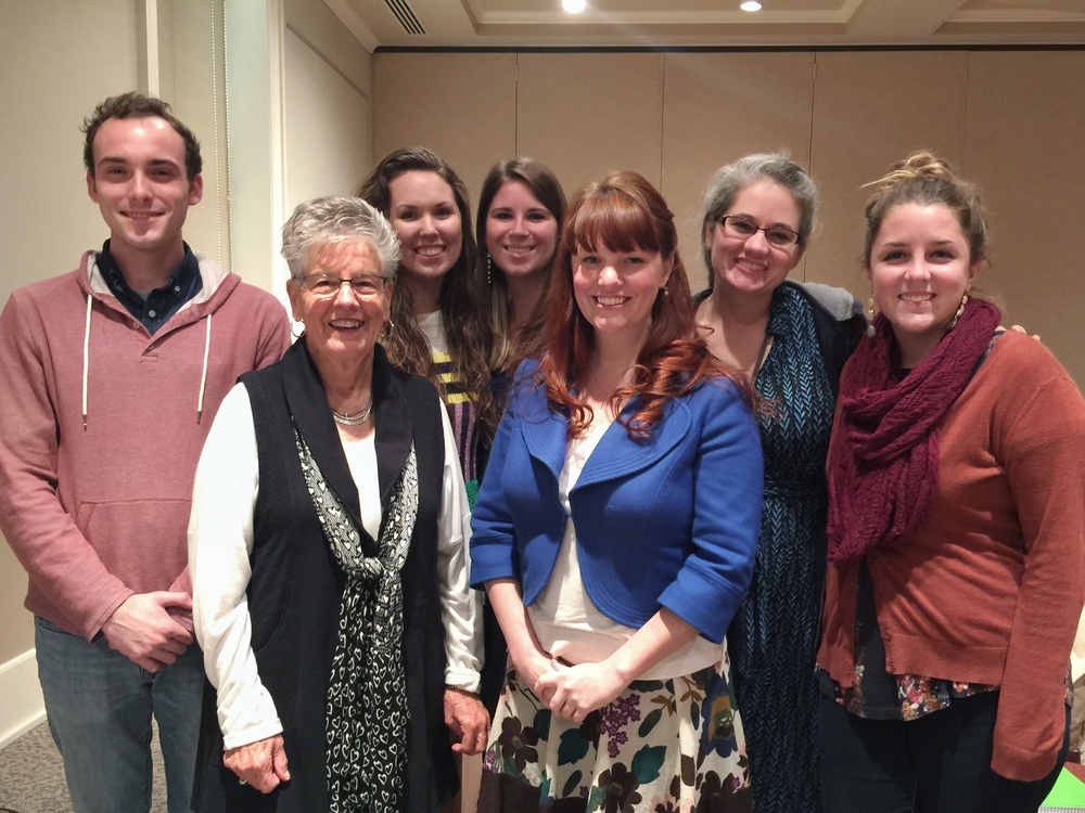 Dr. Carlson and some of her students with Penny Deupree, the great-granddaughter of Frances Hodgson Burnett.