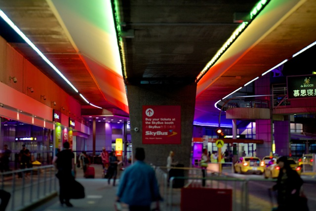 Roadway overpass Melbourne Airport