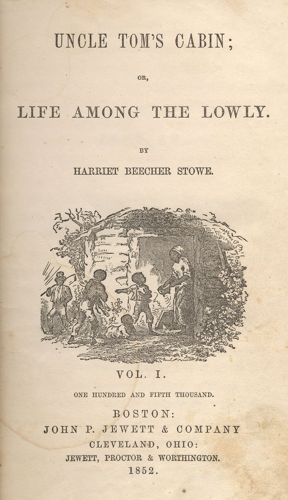 Hammet Billings' engraving in Uncle Tom's Cabin by Harriet Beecher Stowe.