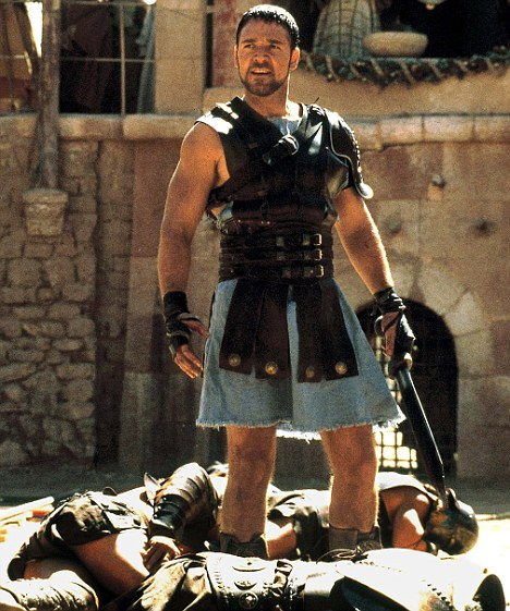 Russell Crowe as Maximus Decimus Meridus in the movie Gladiator.