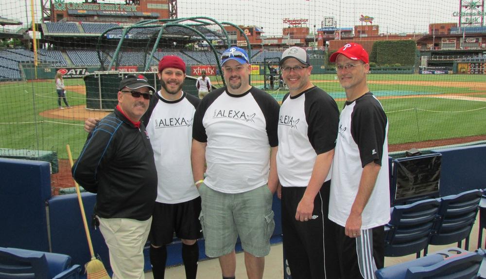 Sponsor Don Shauger of The Shauger Group with Team Alexa hitters Bill Cupitt, Matt Cupitt, Chris Cupitt and John Cupitt, jr